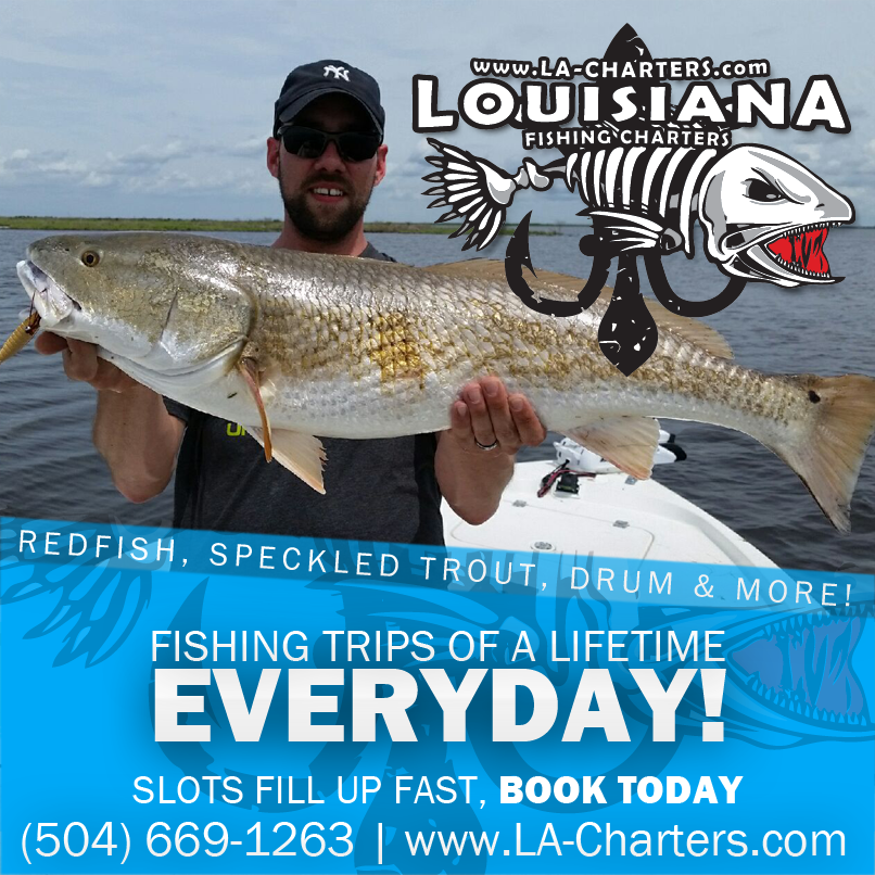 Rates louisiana redfish charter pricing guide for Louisiana lifetime fishing license